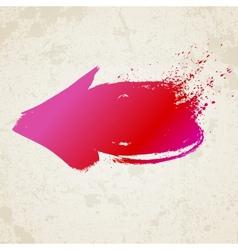 Red grunge arrow vector image