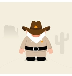 Funny sheriff vector
