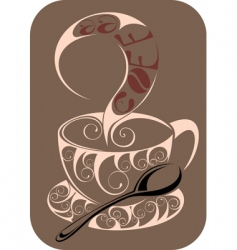 Coffeetea design vector