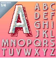 Sketch alphabet vector image