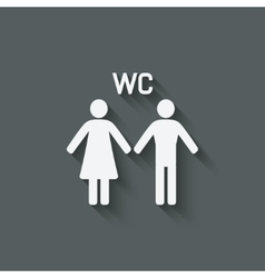 Wc male and female symbol vector
