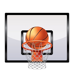 Basketball ring isolated vector