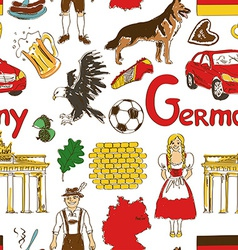 Sketch germany seamless pattern vector