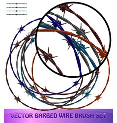 Barbed wire brushes vector