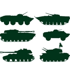 Soviet military vehicles vector