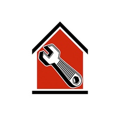 A simple house with work tool wrench home vector
