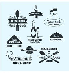 restaurant retro badge vector image