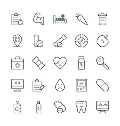 Medical and health cool icons 10 vector
