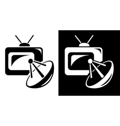 Satellite TV vector image