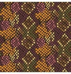 Snake skin artificial seamless texture vector image