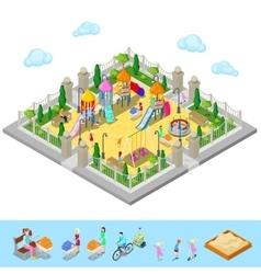 Isometric children playground in the park vector