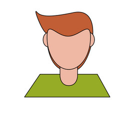 Abstract faceless woman icon image vector