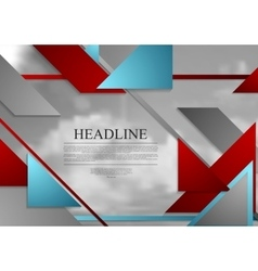 Abstract geometric brochure template layout with vector