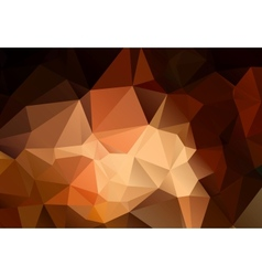 Abstract shades of brown polygonal background vector image vector image