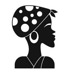 african woman icon simple style vector image
