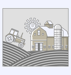 agriculture and farming agribusiness rural vector image vector image