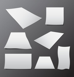 blank paper template in different sizes vector image vector image