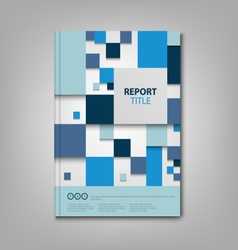 Brochures book or flyer with blue abstract squares vector
