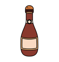 Champagne bottle icon image vector