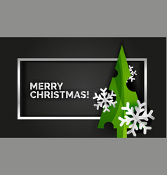 christmas tree design new year greeting card vector image