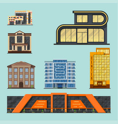 city buildings modern tower office architecture vector image