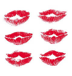 collection print of lips vector image