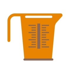 Empty measuring cup glass cooking liquid utensil vector