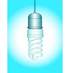 Energy saving lamp vector image