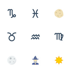 flat icons augur virgin comet and other vector image vector image