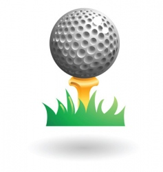 golfball illustration vector image vector image