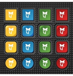 graphical decorative bows Set colourful buttons vector image