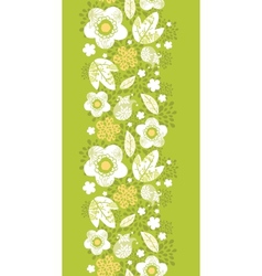 Green kimono florals vertical seamless pattern vector image vector image