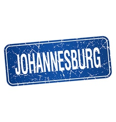 Johannesburg blue stamp isolated on white vector