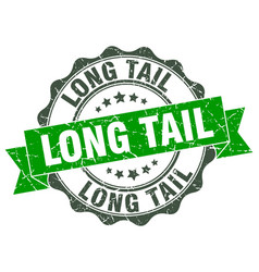 Long tail stamp sign seal vector