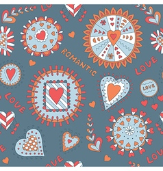 Ornament for Valentine s Day or Wedding vector image