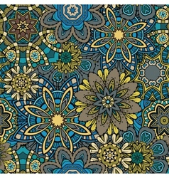 Ornamental floral seamless pattern vector