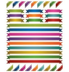 shiny ribbons vector image vector image