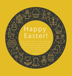 simple of easter vector image