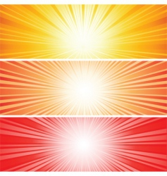sunbursts vector image