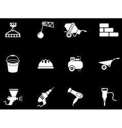 Symbols of building equipment vector image vector image