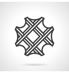 Waffle simple line icon vector