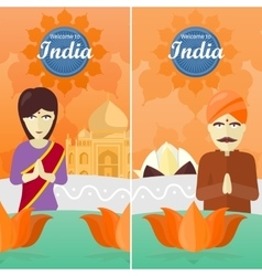 Welcome to india travel poster vector