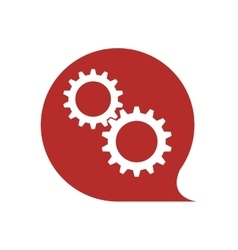 Gear cog machine part metal icon graphic vector