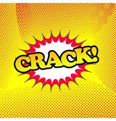 Crack comic book retro cartoon vector image