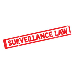 Surveillance law rubber stamp vector