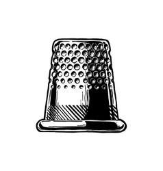 Drawing of thimble vector