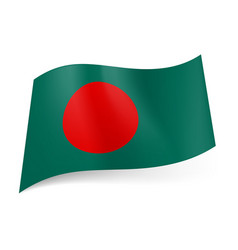 National flag of bangladesh big red circle vector