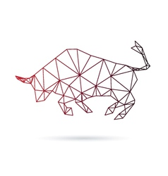 Bull abstract isolated on a white backgrounds vector image