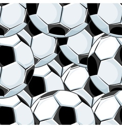 Background pattern of overlapping soccer balls vector