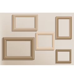 Picture frames on wall vector
